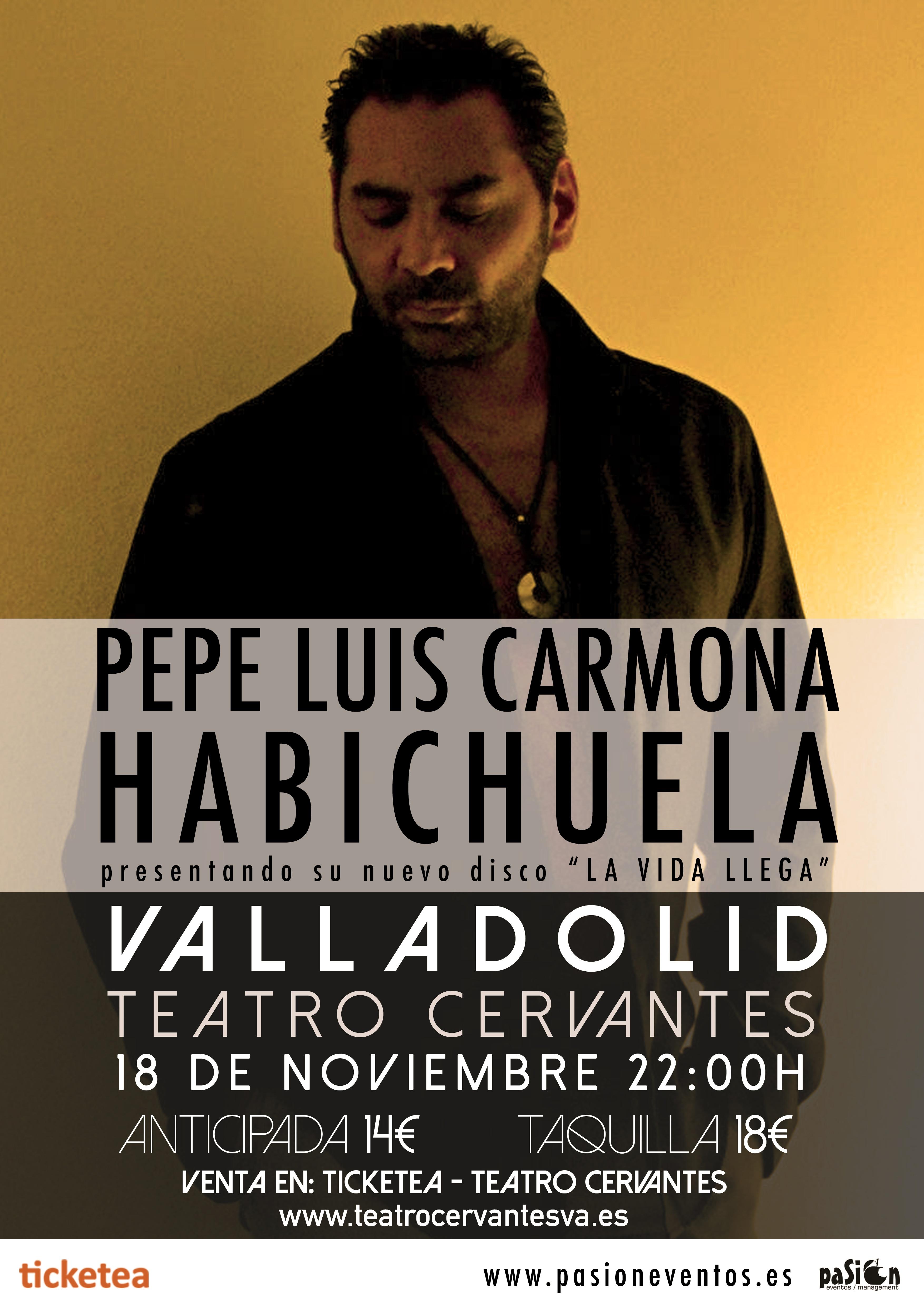 Pepe Luis Carmona - Habichuela - Concierto en Teatro Cervantes, Valladolid