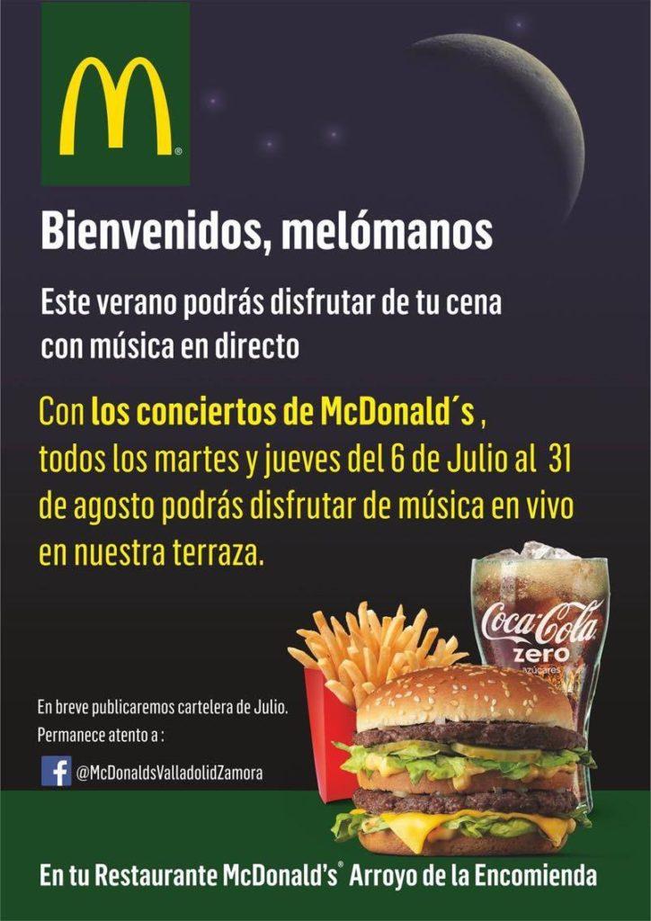Llegan las cenas-concierto a McDonald's