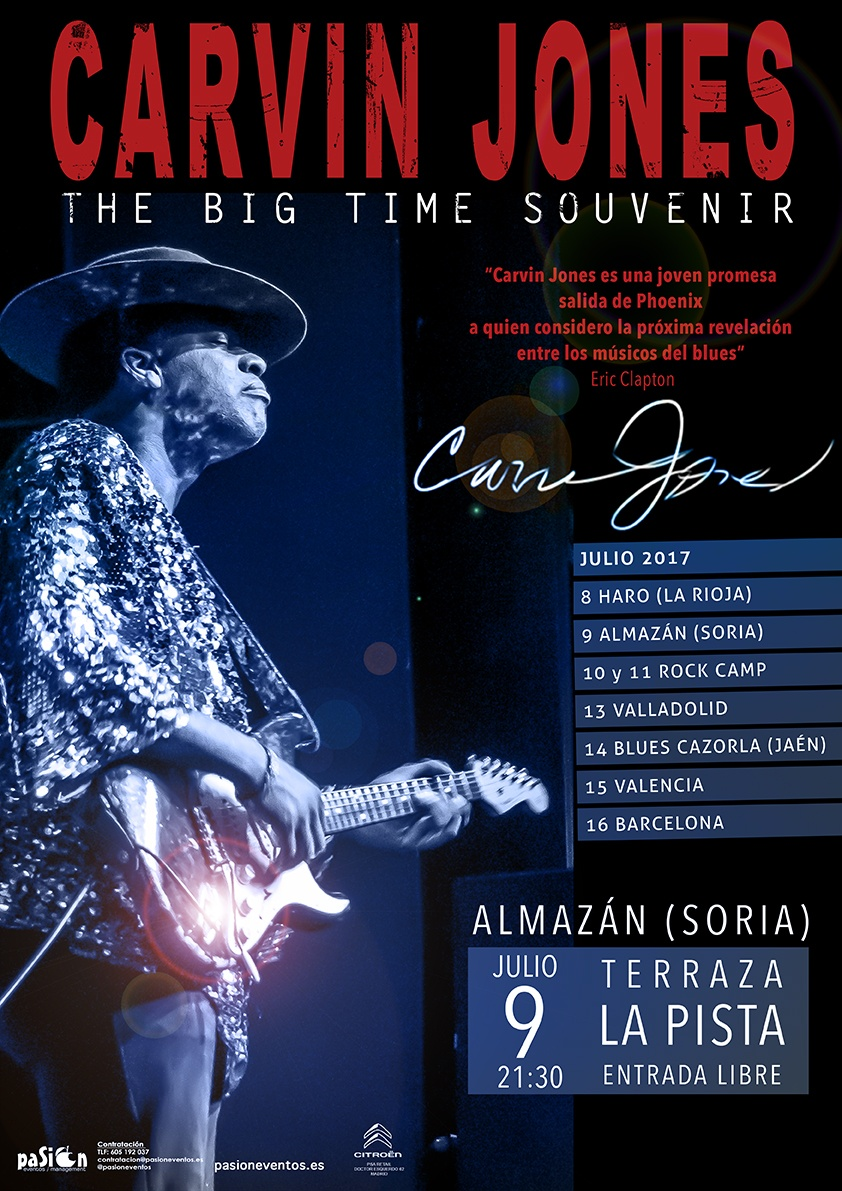 Fechas gira Carvin Jones - Almazán