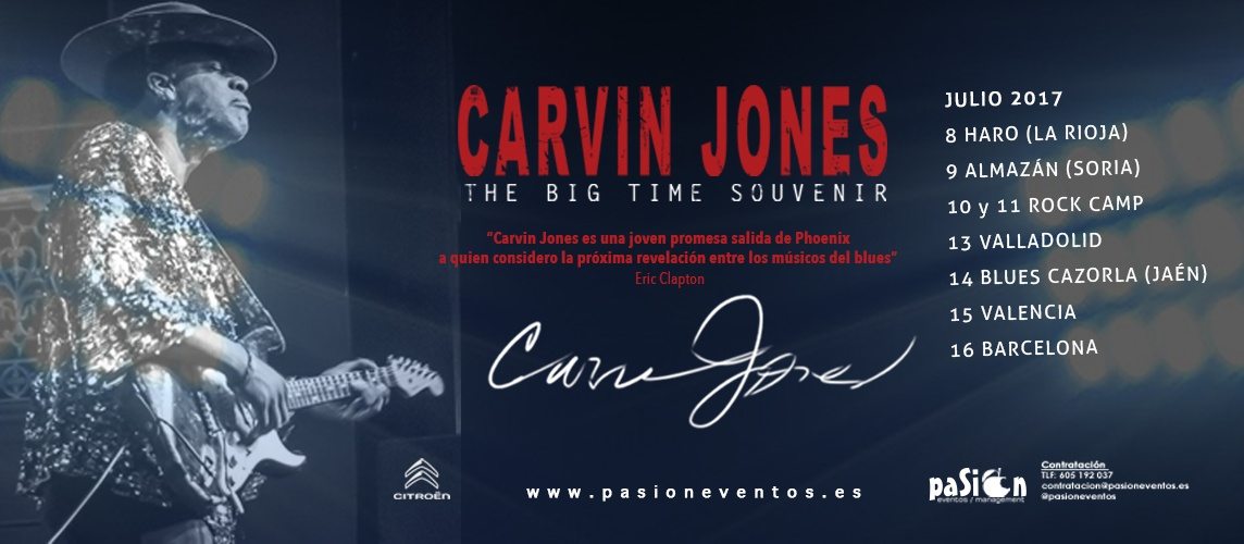 Fechas gira Carvin Jones - The Big Time Souvenir