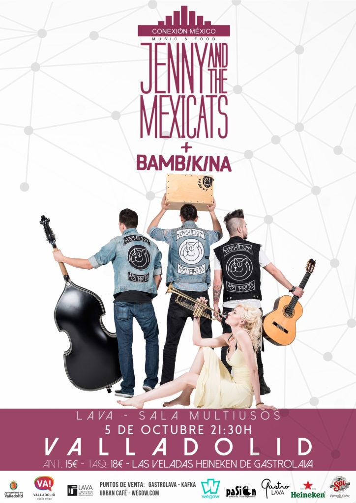 Jenny & The Mexicats + Bambikina - LAVA, Valladolid