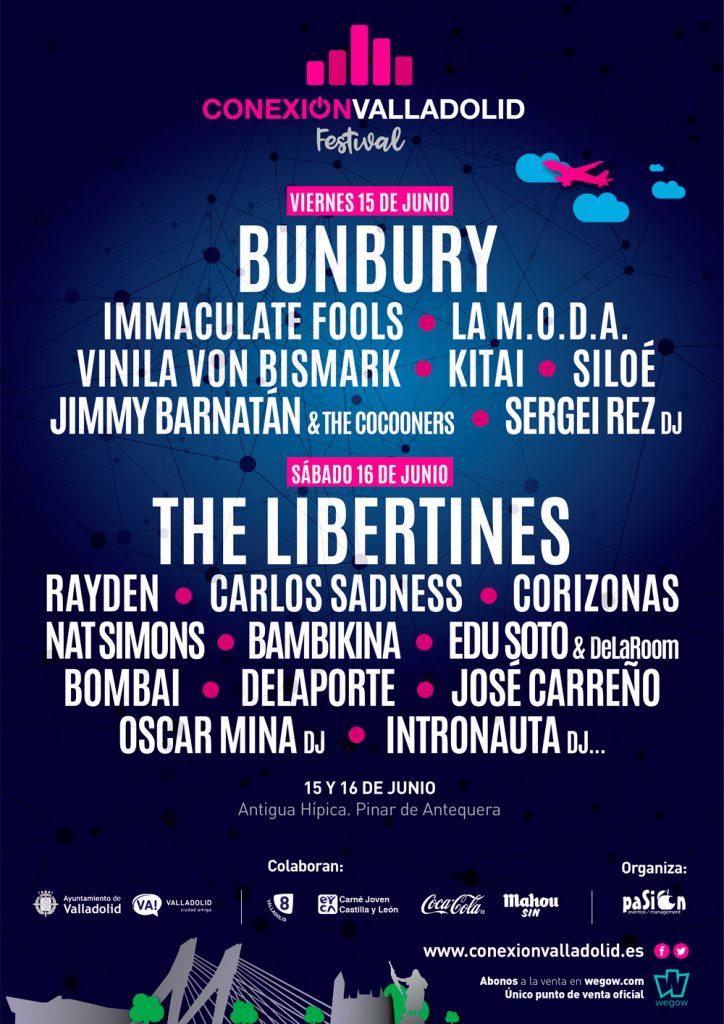 Cartel por días - Conexión Valladolid Festival