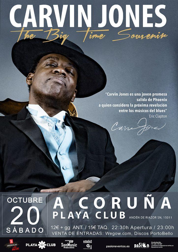 Cartel de Carvin Jones en A Coruña