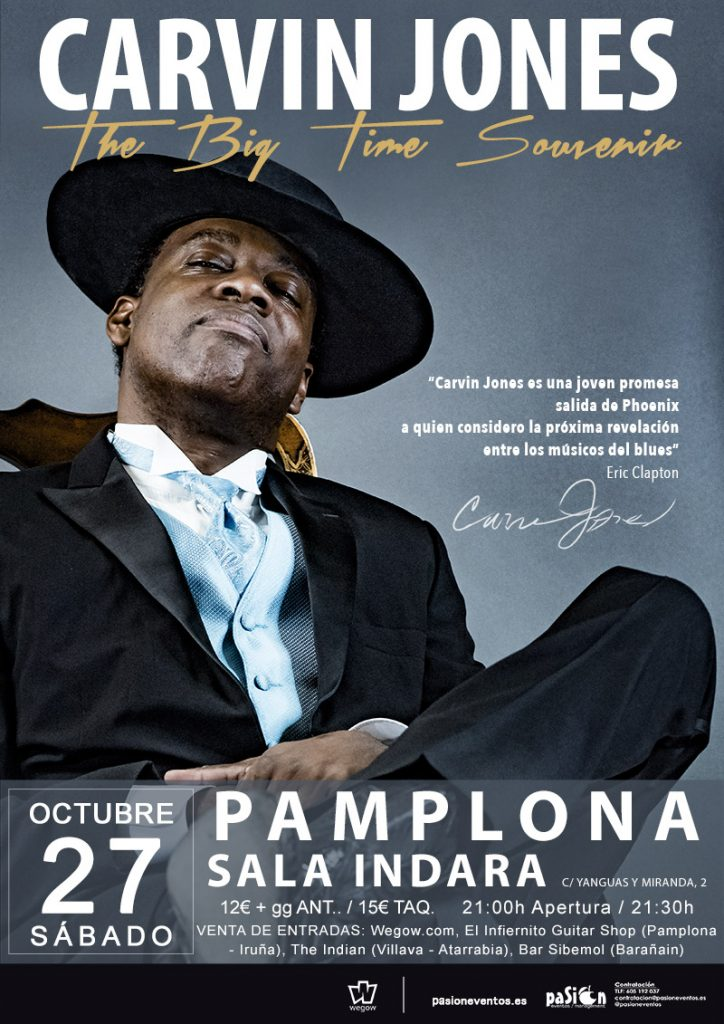 Cartel del concierto de Carvin Jones en Pamplona