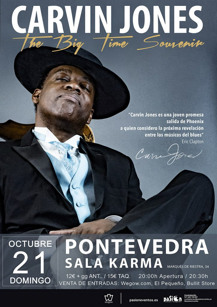 Cartel de Carvin Jones en Pontevedra