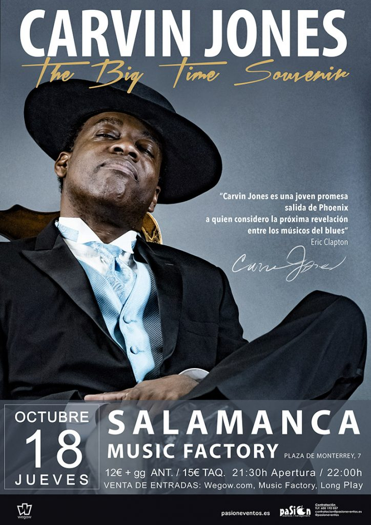 Cartel de Carvin Jones en Salamanca