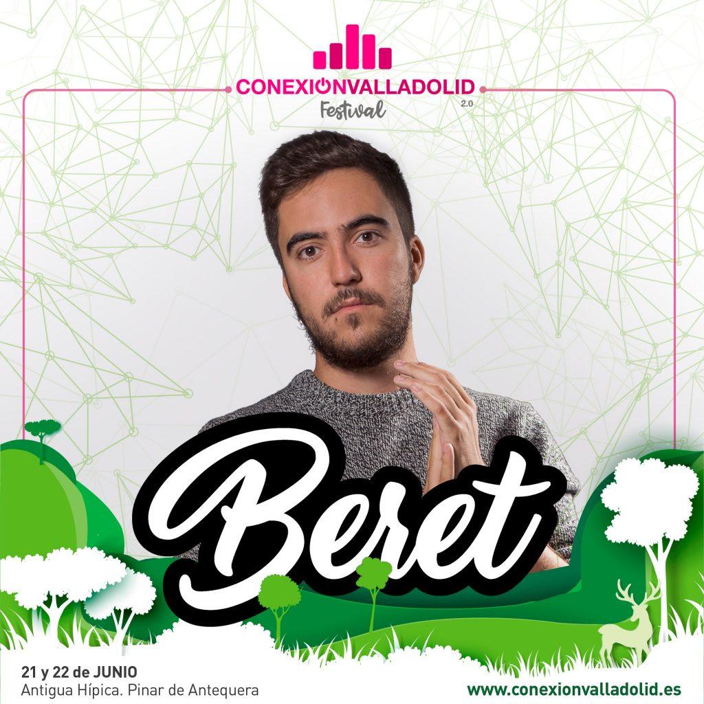 Cartel de Beret para Conexión Valladolid Festival 2019