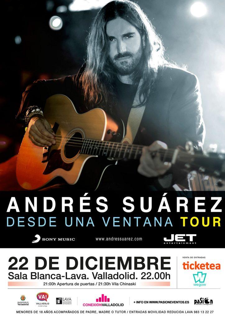 Cartel de Andrés Suárez en Conexión Valladolid