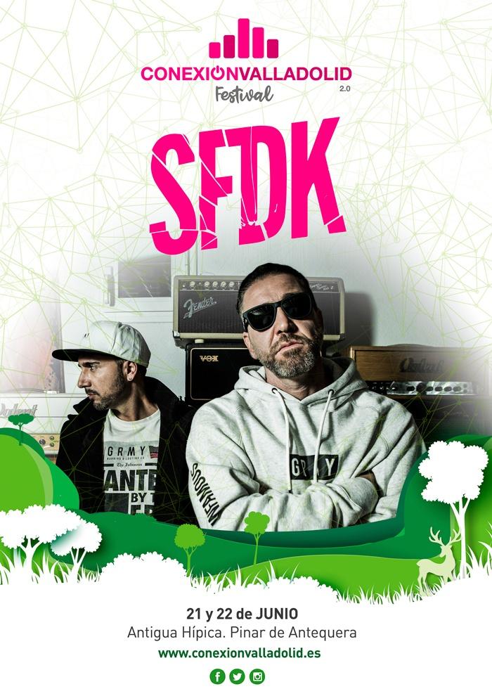 Cartel de SFDK en Conexión Valladolid Festival 2019