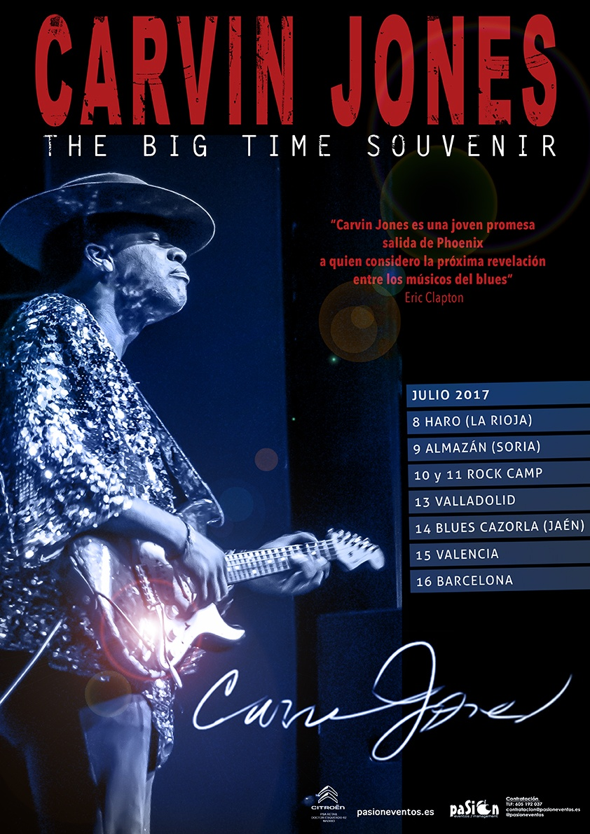 Fechas gira Carvin Jones