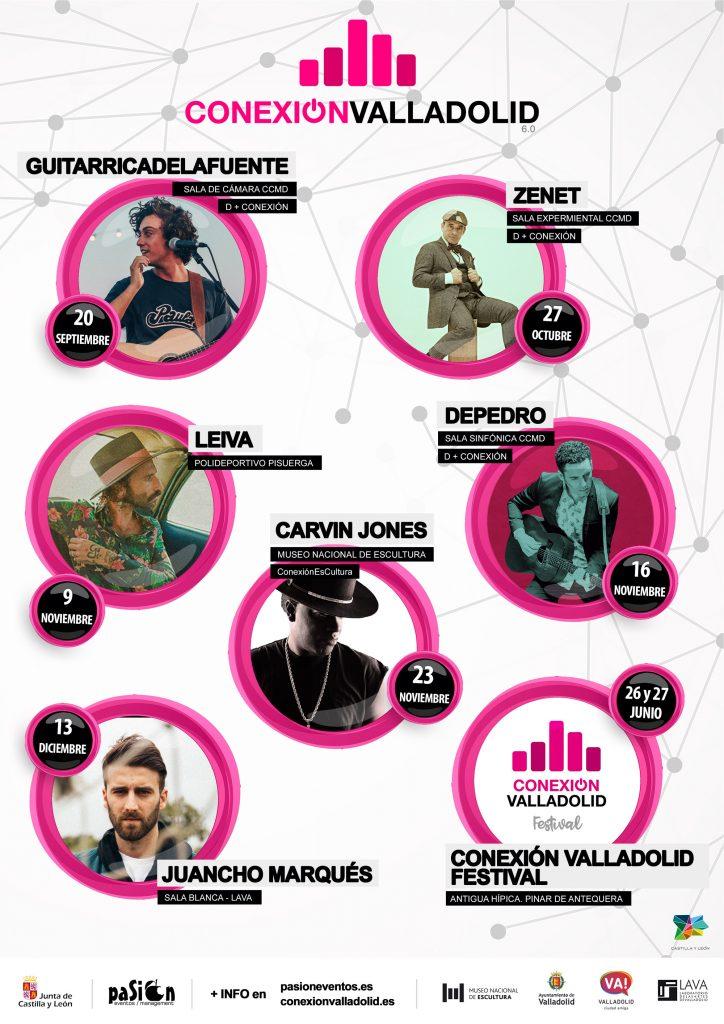 Cartel ciclo Conexión Valladolid Festival 2019